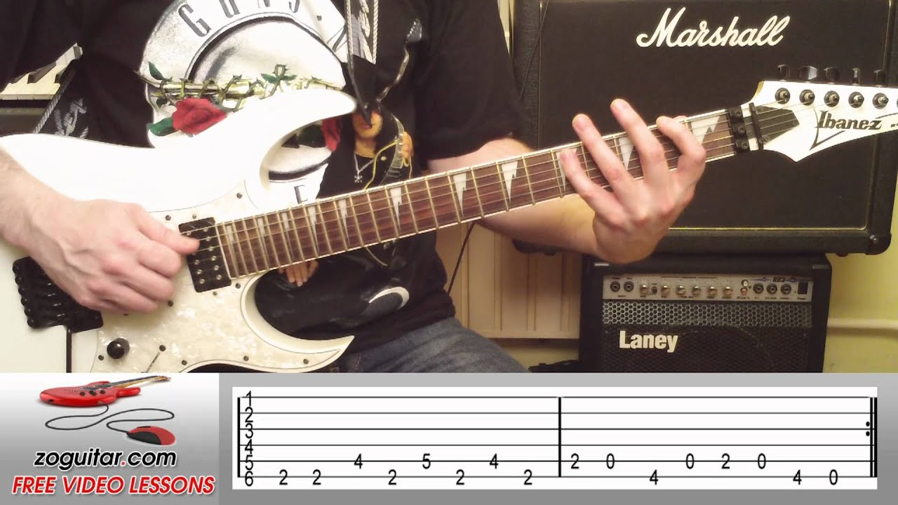 How To Play Crazy Train by Ozzy Osbourne on Guitar (intro riff) + TAB - YouTube