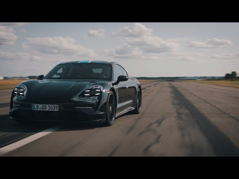 The new electric Porsche Taycan proves its repeatability of power before upcoming World Premiere
