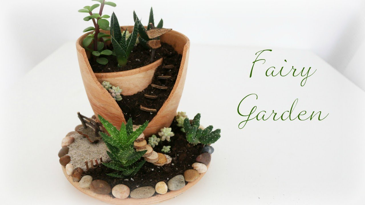 fairy garden 7 diy minigarten im topf youtube. Black Bedroom Furniture Sets. Home Design Ideas