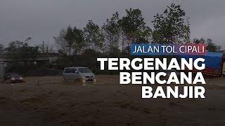 Video Banjir di Tol Cipali Km 135-136, Air Berwarna Kecokelatan Penuhi Jalan