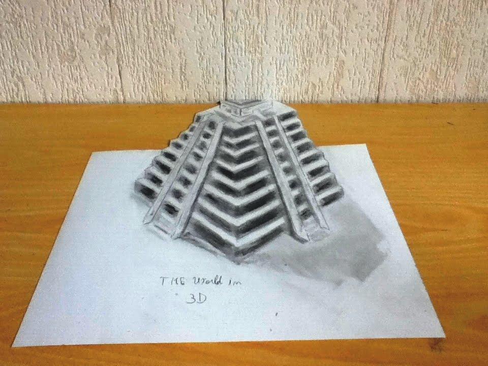 Pyramide Dessin 3d Youtube
