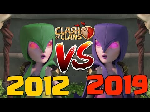Playing Clash Of Clans In 2012 Vs 2019! Old CoC Vs New CoC - What Has Changed? | CoC First Released