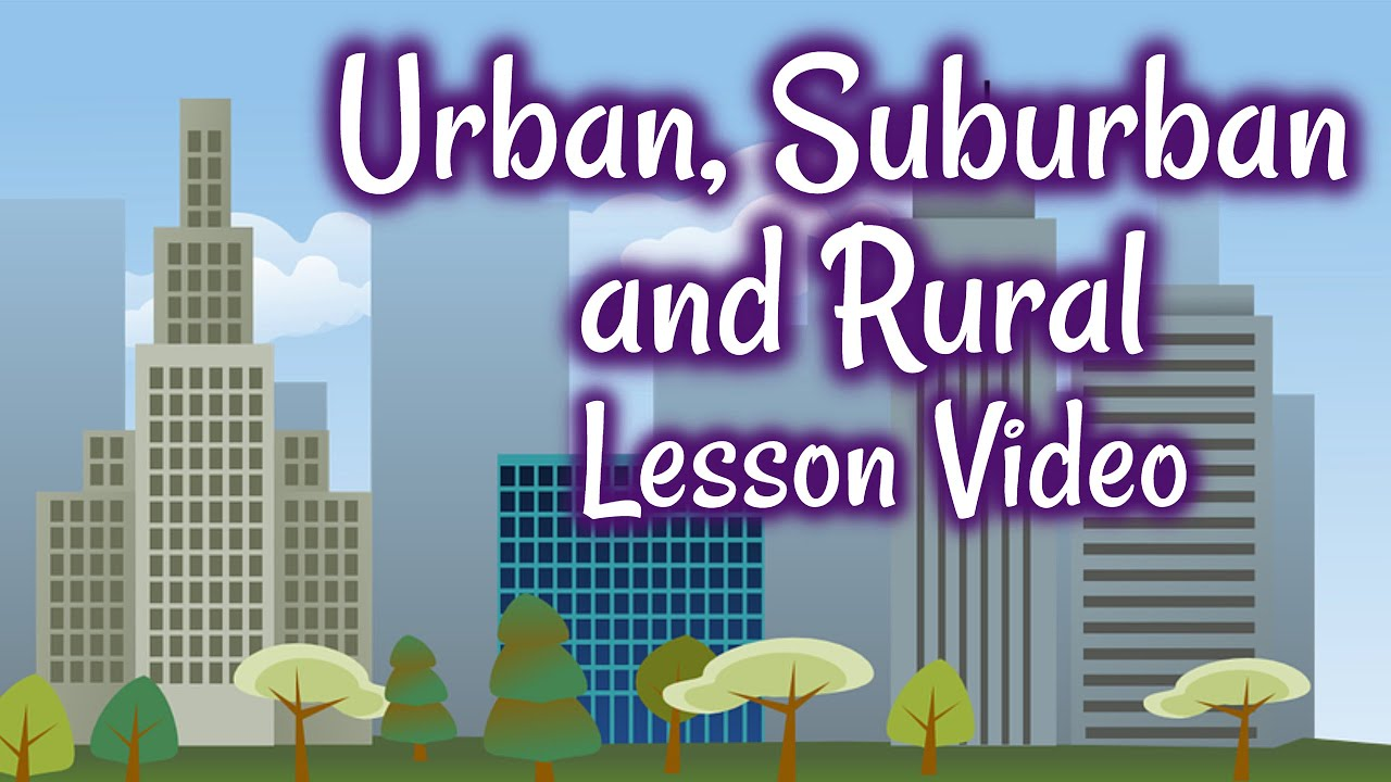 Urban Suburban And Rural Communities For Kids Classroom Video