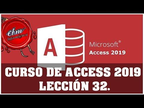 CURSO DE ACCESS 2019  - LECCIÓN 32 DEPENDENCIAS DEL OBJETO