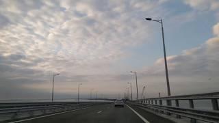 Крымский мост. Первый проезд.