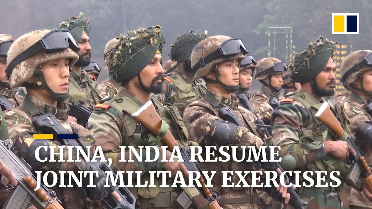 China And India Resume Annual Joint Military Exercises Youtube