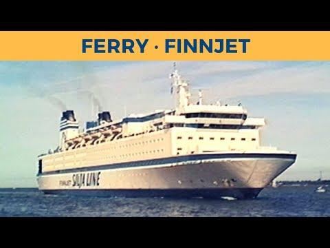 Classic Ferry Video 1998 - ferry FINNJET in Travemünde (Silja Line)