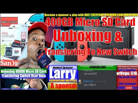 400 GB Micro SD Card Nintendo Switch Unboxing And Transfering User Data