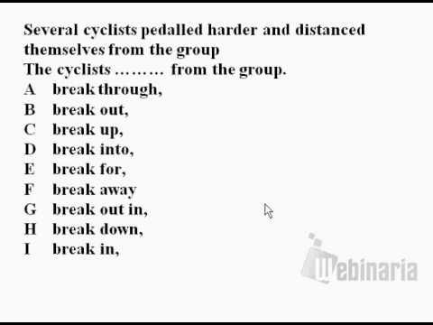 Phrasal Verb Practice questions 1 - Break - phrasal verb test - phrasal  verb quiz - ESL