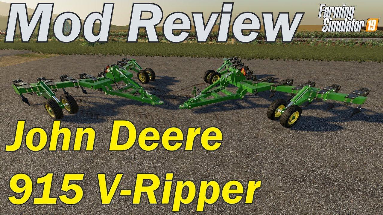 Mod Review - John Deere 915 V-Ripper