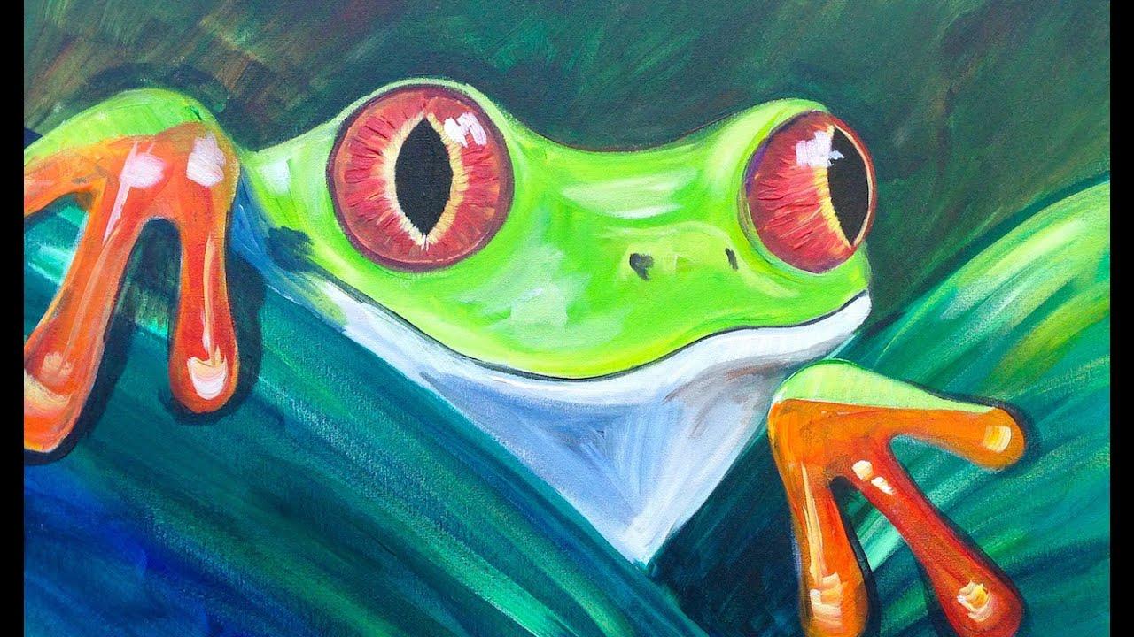 beginner acrylic tutorial tree frog youtube