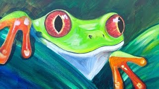 Beginner Acrylic tutorial Tree Frog