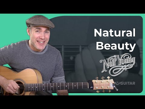 How to play Natural Beauty by Neil Young - Guitar Lesson Tutorial (ST-912) Acoustic Finger Picking