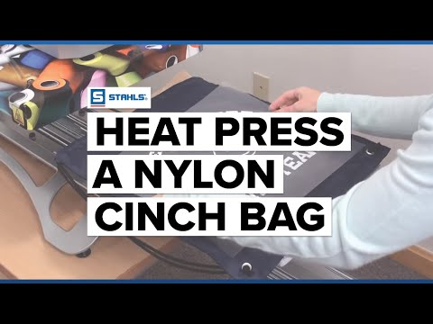 How To Heat Press A Nylon Cinch Bag Youtube