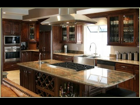 Kashmir Gold Granite With Oak Cabinets For Kitchen Youtube