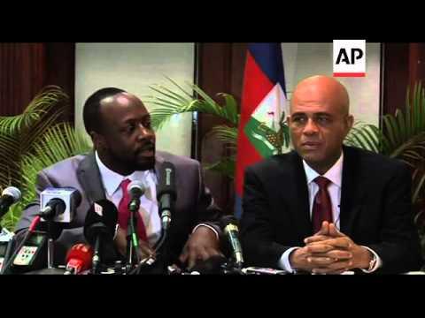 Wyclef Jean endorses Martelly for presidency