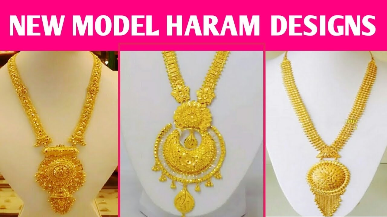 New Model Gold Haram Designs 2018 Latest Gold Jewellery Collection
