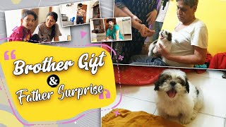 A Brother GIFT & Father Surprise | Amazon Box Makeover | Happy Puppy HOME | Vlog|Sushma Kiron