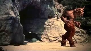 Седьмое путешествие Синдбада (1958 год). Первая сцена с циклопом.