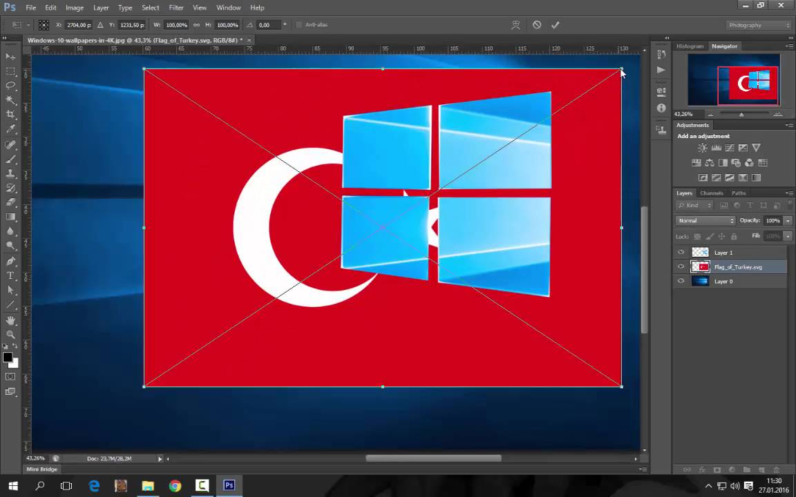 Windows 10 3d Wallpapers Moving Win 10 Masa 252 St 252 Arkaplan Fotosuna T 252 Rk Bayrağı Ekleme