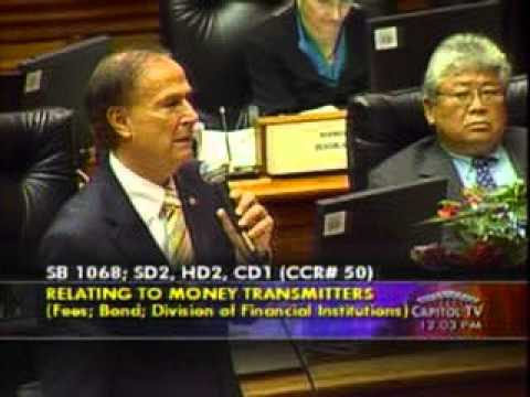 Rep. Ward Addresses SB 1068  Money Transmitters; Fees