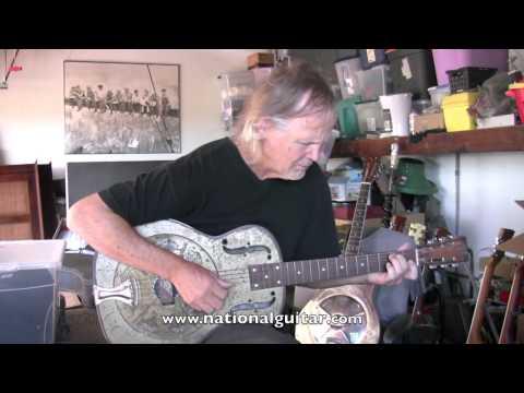1934 National Duolian 14 Fret Resonator Guitar Demo Vintage Nationals