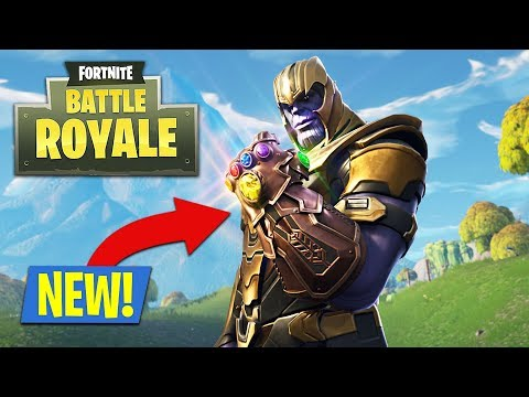 NEW FORTNITE UPDATE *INFINITY GAUNTLET* - PLAY AS THANOS!! (Fortnite Battle Royale)