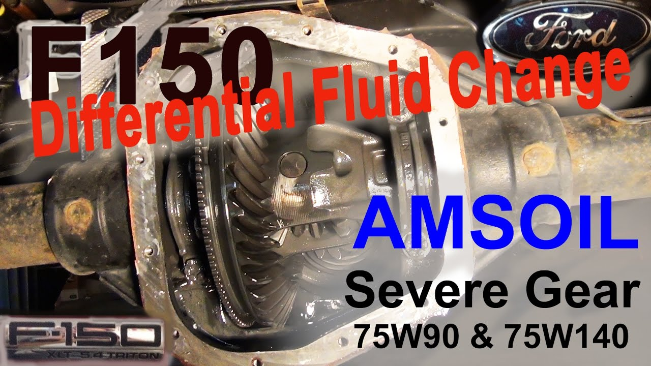 Ford F150 Differential Fluid Change Amsoil Severe Gear 75w 140 75w 90