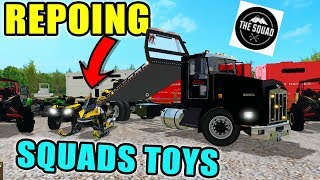 REPOING SQUADS TOY SHOP | TOWING TUESDAY | CAN AM + MAVERICK | FARMING SIMULATOR 2017