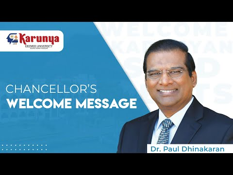 Chancellor's Welcome Message