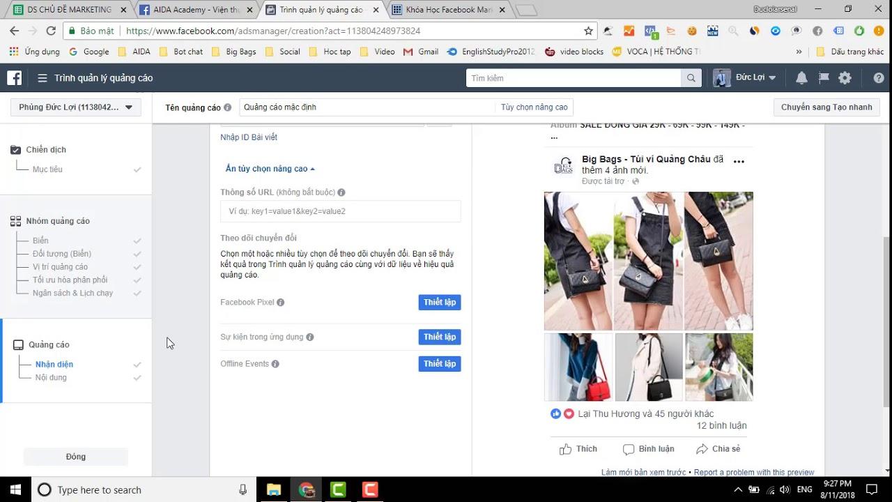 [Học Facebook Ads] Hướng dẫn testing A/B với quảng cáo Facebook 2018
