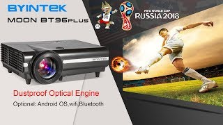 2018 best projector, BYINTEK BT96plus Android smart LED home cinema projector