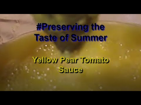 Canning Yellow Pear Tomato Sauce  #Preserve The Taste Of Summer