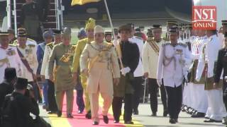 Sultan Muhammad V arrives in KL for royal installation ceremony,  begins his reign as Agong