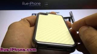Coque iPhone 4 Carbone Fibre Charcoal Edition Luxe Blanc en vente sur Rue-iPhone.com