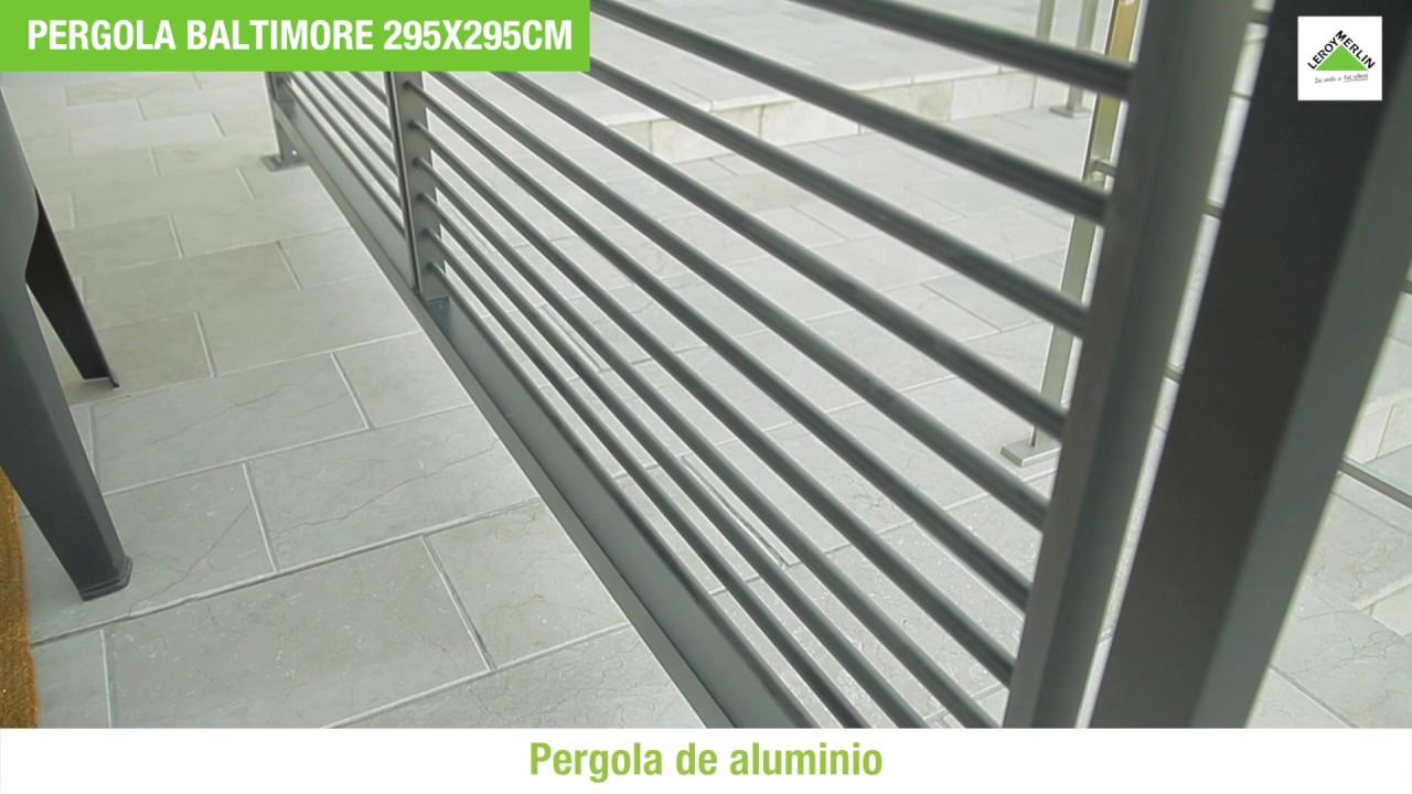 Bricomania pergola techo corredizo sol y sombra youtube for Bricomania piscina