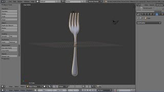 Blender 2.6 Modelling Tutorial - Making A Dinner Table Fork - Part 1 Making The Outline