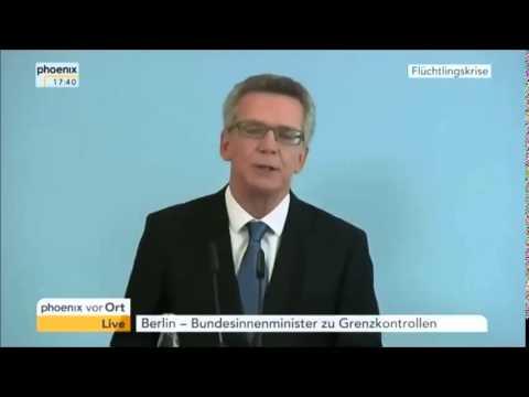 Horst Seehofer sichtlich geschockt - nur kurz nach diesem Interview schließt Deutschland die Grenzen