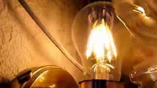 Светодиодная лампа FILAMENT 6W обзор - 2я часть