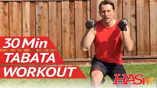 30 Min Dumbbell Tabata Workout - HASfit Brutal Tabata Training Exercises