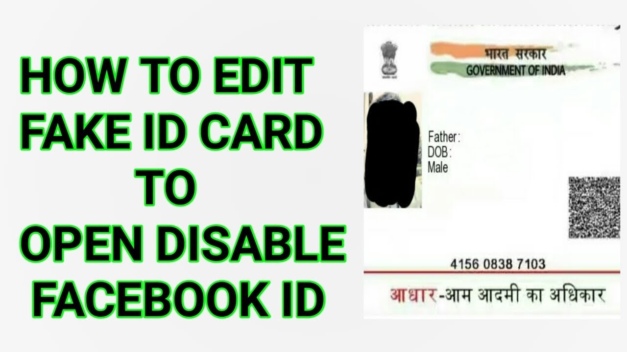 How To Edit Fake Id Card Proof In Mobile For Facebook In Hindi 100%  Acceptable