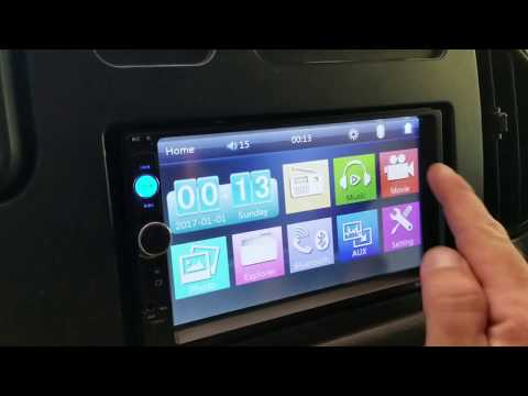Cheap 50$ 7010B Double DIN Touch Screen Radio install in Econoline e250 - Project Van