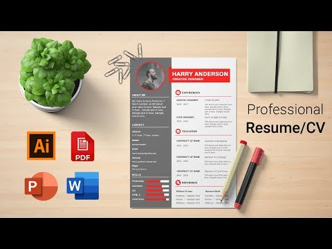 How to create a CV/RESUME In PowerPoint Free AI+DOC+PPT+PDF (Silent Version)