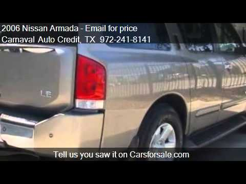 2006 nissan armada for sale in dallas tx 75229 youtube. Black Bedroom Furniture Sets. Home Design Ideas