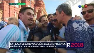 Banderazo: los hinchas argentinos coparon Moscú - El Noticiero de la Gente