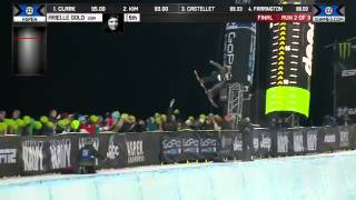 Arielle Gold Run 2 Women's Snowboard SuperPipe final at X Games Aspen 2014