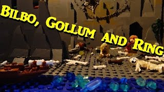 Bilbo, Gollum and Ring (Lego Hobbit Stop-motion)