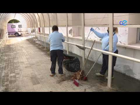 Importante labor de limpieza y desinfección