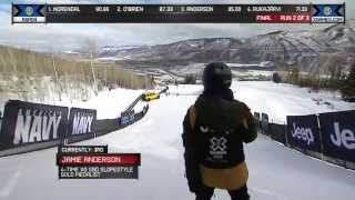 Jamie Anderson wins silver in Women's Snowboard Slopestyle - Winter X Games