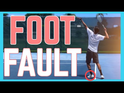 How To Stop Foot Faulting On The Serve   Tennis Technique
